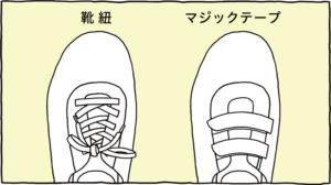靴紐・マジックテープ